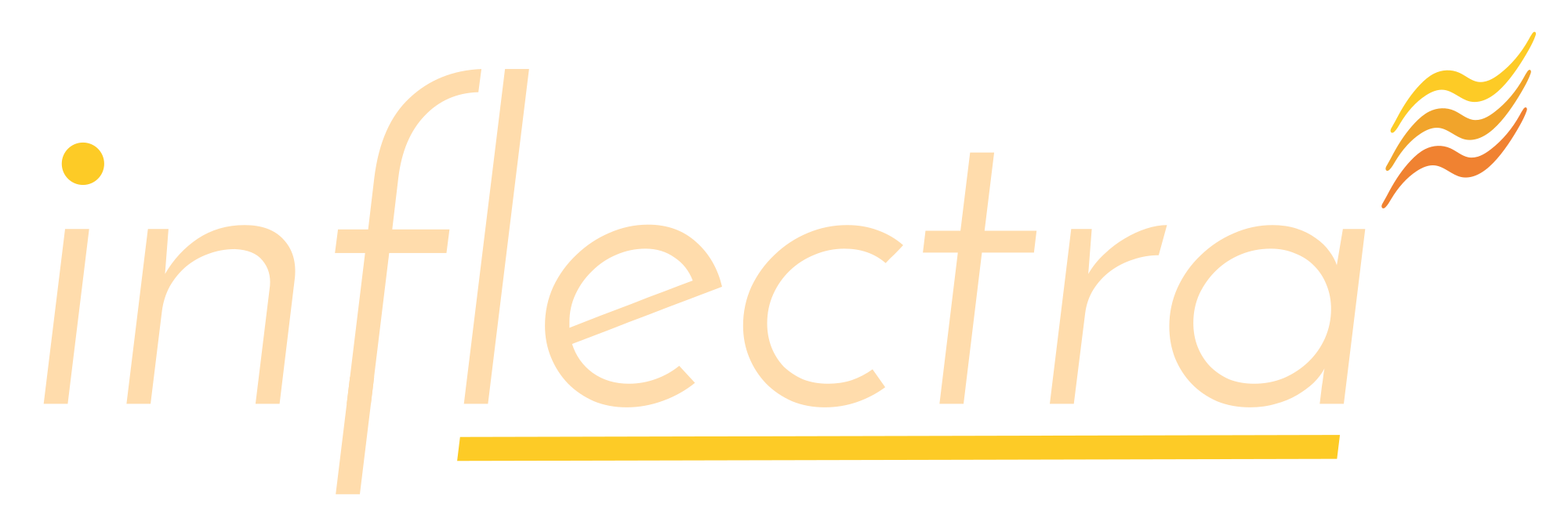 Inflectra Logo, Light, Transparent