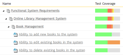 Requirements Management Software Screenshot