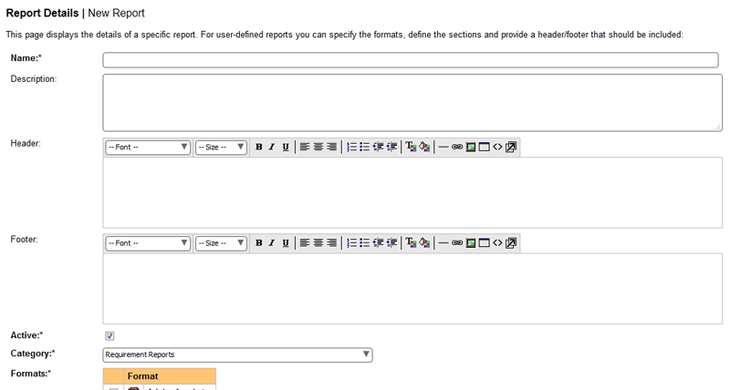 Custom report writing