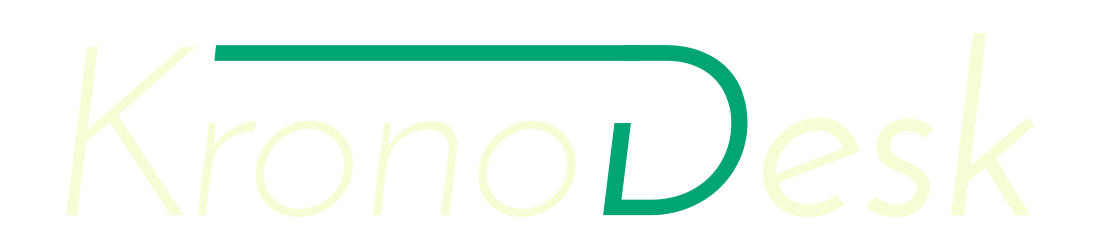 KronoDesk Logo, Light, Transparent