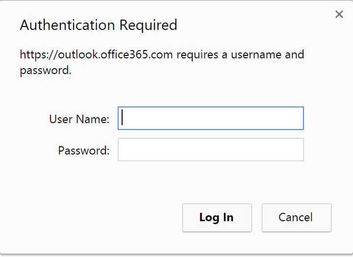 Chrome auth prompt