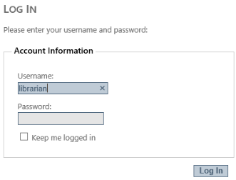 User Login Input Box