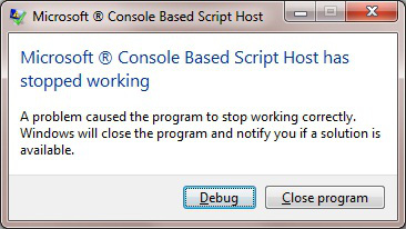 Windows Scripting Host Crashes When Playing Back Rapise RVL