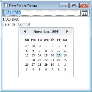 Wpf Calendar And Datepicker Kb416 Inflectra
